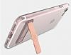 Totu Design Keen iPhone 7 Plus / 8 Plus Standlı Rose Gold Silikon Kılıf - Resim 7