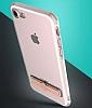 Totu Design Keen iPhone 7 Plus / 8 Plus Standlı Rose Gold Silikon Kılıf - Resim 1
