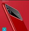 Totu Design Magic Mirror iPhone X Kırmızı Rubber Kılıf - Resim 7