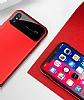 Totu Design Magic Mirror iPhone X Kırmızı Rubber Kılıf - Resim 1