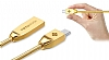 Totu Design Micro USB Gold Metal Data Kablosu 1m - Resim: 6