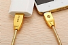 Totu Design Micro USB Gold Metal Data Kablosu 1m - Resim: 3