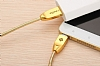 Totu Design Micro USB Gold Metal Data Kablosu 1m - Resim: 2