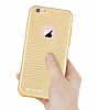 Totu Design Optic Texture iPhone 6 Plus / 6S Plus Rose Gold Silikon Kılıf - Resim: 4