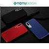 Totu Design Pure Color iPhone X / XS Kamera Korumalı Şeffaf Rubber Kılıf - Resim 4