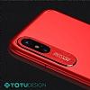 Totu Design Pure Color iPhone X Kamera Korumalı Şeffaf Rubber Kılıf - Resim 3