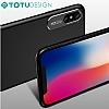 Totu Design Pure Color iPhone X Kamera Korumalı Şeffaf Rubber Kılıf - Resim 2