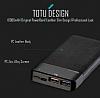 Totu Design Qualcomm 3.0 10000 mAh Powerbank Siyah Yedek Batarya - Resim 2