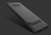 Totu Design Samsung Galaxy A7 2017 Standlı Karbon Rubber Kılıf - Resim 4
