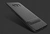 Totu Design Samsung Galaxy A5 2017 Standlı Karbon Siyah Rubber Kılıf - Resim 4