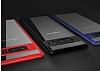 Totu Design Samsung Galaxy Note 8 Kamera Korumalı Silikon Kenarlı Siyah Rubber Kılıf - Resim 9
