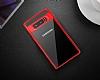 Totu Design Samsung Galaxy Note 8 Kamera Korumalı Silikon Kenarlı Siyah Rubber Kılıf - Resim 1