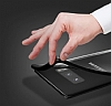 Totu Design Samsung Galaxy Note 8 Kamera Korumalı Silikon Kenarlı Siyah Rubber Kılıf - Resim 8