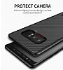 Totu Design Samsung Galaxy Note 8 Standlı Karbon Siyah Rubber Kılıf - Resim 4
