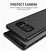 Totu Design Samsung Galaxy Note 8 Standlı Karbon Gold Rubber Kılıf - Resim 3