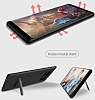 Totu Design Samsung Galaxy Note 8 Standlı Karbon Gold Rubber Kılıf - Resim 7