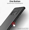 Totu Design Samsung Galaxy Note 8 Standlı Karbon Gold Rubber Kılıf - Resim 6
