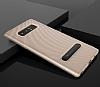 Totu Design Samsung Galaxy Note 8 Standlı Karbon Gold Rubber Kılıf - Resim 9