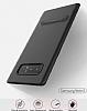 Totu Design Samsung Galaxy Note 8 Standlı Karbon Gold Rubber Kılıf - Resim 5