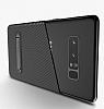 Totu Design Samsung Galaxy Note 8 Standlı Karbon Siyah Rubber Kılıf - Resim 2