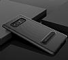 Totu Design Samsung Galaxy Note 8 Standlı Karbon Siyah Rubber Kılıf - Resim 1
