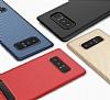 Totu Design Samsung Galaxy Note 8 Standlı Karbon Gold Rubber Kılıf - Resim 8