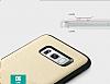 Totu Design Samsung Galaxy S8 Kartlıklı Gold Rubber Kılıf - Resim 5