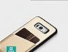 Totu Design Samsung Galaxy S8 Kartlıklı Gold Rubber Kılıf - Resim 8