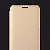 Totu Design Samsung Galaxy S8 İnce Yan Kapaklı Rose Gold Deri Kılıf - Resim 4
