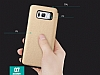 Totu Design Samsung Galaxy S8 İnce Yan Kapaklı Rose Gold Deri Kılıf - Resim 9