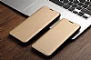 Totu Design Samsung Galaxy S8 İnce Yan Kapaklı Rose Gold Deri Kılıf - Resim 5