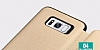 Totu Design Samsung Galaxy S8 İnce Yan Kapaklı Rose Gold Deri Kılıf - Resim 1