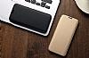 Totu Design Samsung Galaxy S8 İnce Yan Kapaklı Rose Gold Deri Kılıf - Resim 6
