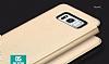 Totu Design Samsung Galaxy S8 İnce Yan Kapaklı Rose Gold Deri Kılıf - Resim 8
