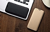 Totu Design Samsung Galaxy S8 Plus İnce Yan Kapaklı Rose Gold Deri Kılıf - Resim 1