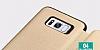 Totu Design Samsung Galaxy S8 Plus İnce Yan Kapaklı Rose Gold Deri Kılıf - Resim 4