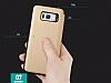 Totu Design Samsung Galaxy S8 Plus İnce Yan Kapaklı Rose Gold Deri Kılıf - Resim 11