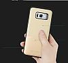 Totu Design Samsung Galaxy S8 Plus Kartlıklı Gold Rubber Kılıf - Resim 9