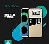 Totu Design Samsung Galaxy S8 Plus Kartlıklı Gold Rubber Kılıf - Resim 10