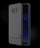 Totu Design Samsung Galaxy S8 Standlı Karbon Siyah Rubber Kılıf - Resim 7