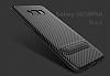 Totu Design Samsung Galaxy S8 Standlı Karbon Siyah Rubber Kılıf - Resim 10