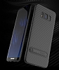Totu Design Samsung Galaxy S8 Standlı Karbon Siyah Rubber Kılıf - Resim 6