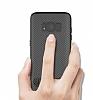 Totu Design Samsung Galaxy S8 Standlı Karbon Siyah Rubber Kılıf - Resim 9