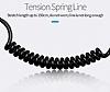 Totu Design Spiral Kablolu Siyah Araç Şarj Aleti - Resim 2