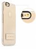 Totu Design Tpu Metal iPhone 6 / 6S Gold Standlı Şeffaf Silikon Kılıf - Resim 5