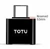 Totu Design Type-C OTG Siyah Dönüştürücü Adaptör - Resim 7
