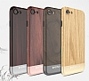Totu Design Wood iPhone 7 / 8 Dark Silver Rubber Kılıf - Resim: 1