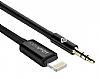 Totu Design Lightning 3.5mm Siyah Aux Kablo 1m - Resim 5