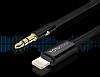 Totu Design Lightning 3.5mm Gold Aux Kablo 1m - Resim 4