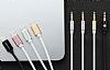 Totu Design Lightning 3.5mm Gold Aux Kablo 1m - Resim 8